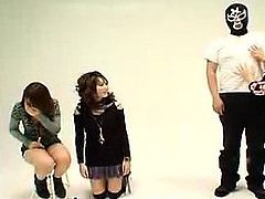 Three alluring Japanese girls put their hands to work on a