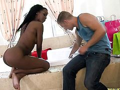 Piercings Kim Kandy cant resist Michael Vegass erect sausage and takes it in her mouth