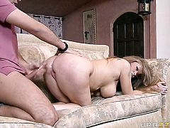 Mature Darla Crane with giant hooters cant wait to be boned by her horny Keiran Lee in anal porn action
