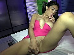 post op ladyboy with pigtails takes my huge cock