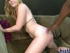 Slutty Emma pleasures a monster African shaft