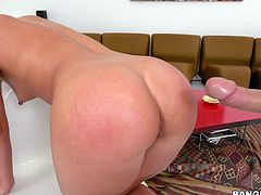 If you love big round juicy asses as strong as we love them, then don't wait any longer and join our company. Fantastic blonde chick with an amazing booty enjoys being fucked hard. Relax and enjoy impetuous sex action!