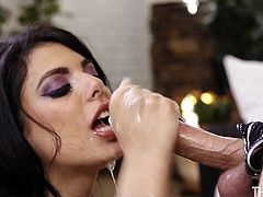 Gina Valentina allows Codey to fuck her beautiful young face. She also shows her skills at handling a big dick - she takes it all the way down her throat, as she gags hard. Although she doesn't have much experience, she definitely knows what she is doing.