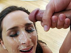Ashley Adams loves sucking big dicks and one dick is never enough for her. So, when she had the chance to join five guys and suck them off, until they were all ready to cum over her face, it was like Christmas had come early for her. Head to our site for more of the best hardcore porn movies.