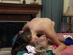 They weren't used to allowing others to watch them making love but there was something special about you, so they invited you to stay whilst they tenderly touched each other's pussies with their fingers and tongues. Do you like what you see? Head to our site for much more award winning lesbian porn.