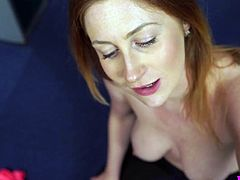 Big tittied babe Princess Paris is sucking hard pole on a pov camera