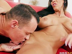 Milf Veronica has the best tits you have ever seen. She pulls out her man's cock and gives him a great handjob, and blowjob. Her favorite position is reverse cowgirl, so she rides her man's stiff dick until she cums really hard.