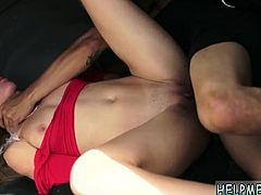 Teen cam ride and vibrator blindfold bondage Poor Callie