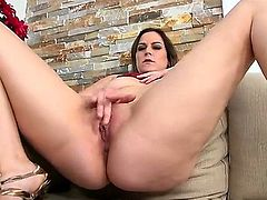 Delicious MILF Addie Juniper with natural titties strokes her pink snatch for Levi Cash to watch and then gets her fuck hole filled with his hard throbbing cock. She loves hard sex.