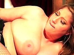 In this film we see lesbians eating pussy. Angel Deluca and Scarlet Lavey get naked and start kissing each other. They are chubby chicks with big boobs and love to play with vibrators.