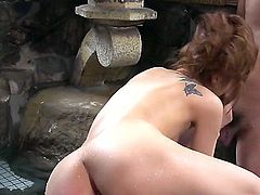 This busty asian does a really nice and hardcore blowjob before her wet twat is penetrated by a wet stiff pulsating penis without for the damage of her internal organs
