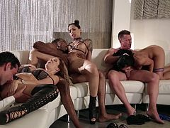 This mistress is known for inviting lots of people over to have a crazy orgy. There are hot Asian babes and men with big black cocks. Everyone gets a turn at being fucked hard in a gangbang of epic proportions. Don't miss it!