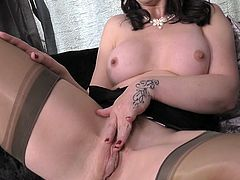 This busty mature lady loves to show off her old cooch. Watch as she spreads her legs wide and lets us all see inside that beautiful vagina of her. She loves to play with it when people are watching her.