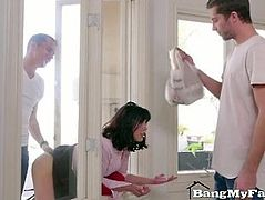 Forgetful Stepmom Double-Teamed By Her Dirty Step-Sons