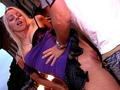 Candy Kiss seduced by a fellow for a public sex session