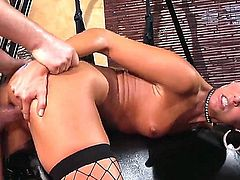 While working out with her trainer, India Summer gets really horny. He gets horny too and they end up having sex in the gym. She does some anal.