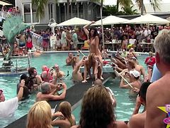 Wet and Nude Pool Party Out Of Control p1
