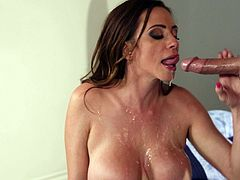 Ariella Ferrera attacks a lucky lover for a nice cock riding session