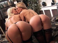 Cindy Behr sports her long blonde hair straight down, and so does her friend Kendra.