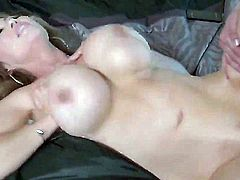 Kianna Dior is a real blonde slut with big massive tits and she's going to get just as massive junk in her mouth and cunt until she learns to keep her mouth closed.