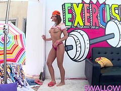 Brunette hottie Adriana Chechik is as naughty as she is beautiful, and a thought of a fat cock down her throat gets her excited and ready to suck!