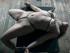 In this situation, Bambi Belle can not even move, not saying nothing about opposing all these bullying. She can only try to relax and, maybe, even try to enjoy. Watch breathtaking punishment and enjoy hard rope bondage!