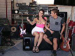 Valentina Nappi is a cute groupie ready to bend over for a dick
