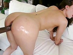 Casey Calvert having fun with a black dick in another one of free blowjob videos. She sucks him nice and well before that big dick destroys her tight cock craving cunt