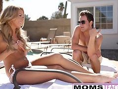 MomsTeachSex - Mother Helps Daughter Please Big Cock