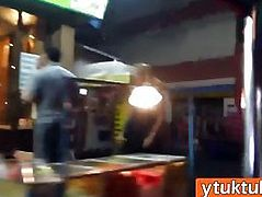 Thai hookers is given a foreigner's cock