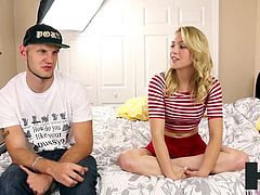 Petite Blonde Cali Sparks (Zoey Taylor) in first creampie