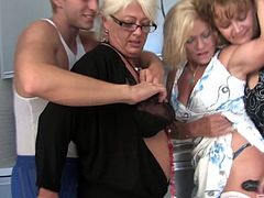 3 matures sharing a boy