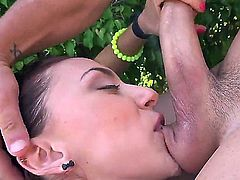 Watch that ass get anally pounded after she gives a blow job. Huge ass Mandy likes to do it that way, especially outside in the garden because she is an exhibitionist.