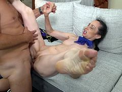 mature skinny lady gets plowed