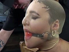 Perhaps this is even a special talent. Not everyone is able to come up with such sophisticated methods of obtaining pleasure and pain. This time his fantasy has gone so far, that it is even hard to imagine how this all can end... Brutal orgasms in hard rope bondage.