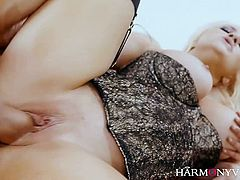 Glamour blonde Sienna Day is sucking a hard dick before a crazy sex