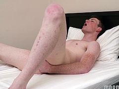 Elder Campbell was all alone in his bed touching himself. He was thinking of sexy Bishop Hart naked in the shower. This turned him on so much, that her took off all of his underwear and jacked off even harder and faster. He even fingers his butthole.