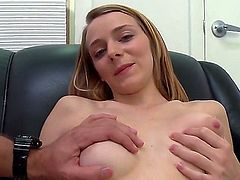Naked casting girl Ava Hardy is ready to get it started. She rubs her firm boobs for guy to watch and sucks his sausage before getting her dripping wet pink pussy double fingered right in front of the camera.