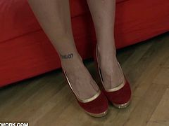 Hot Slut Takes it in the ass and gags on BBC deepthroat