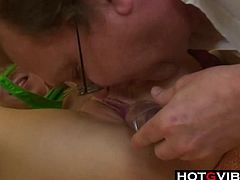 Teen Redhead gets ANAL Fucked By Old Man