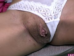 Sexy Thai post-op tranny Quiz also known somewhere as Bella gets naked and dildos her fresh pussy. Then she opens her mouth for a cameraman's cock and gets fucked bareback.