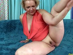 Sexy old woman rub and finger her pussy Then sucks a stiff cock so good Later she takes that dick in her pussy and get fucked good in many positions