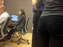 Tight, athletic coworker candid ass (part 2)