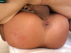 She tried to deepthroat it as deep as possible. That blowjob deserves a great fuck as you watch her enjoy a series of hardcore action with her getting super wild and horny.