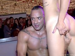 Hot Party Babe Gets Pounded In Public