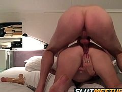 Dirty wife fucks friend and gets a creampie