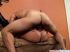 Nikki Neives hops on her man's face before riding his cock!