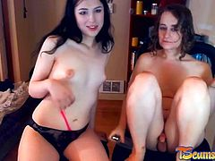 Cute tgirl couple playing online