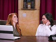 Magnificent lesbian threesome with Penny Pax and Karlee Grey