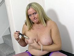 granny antoinette plays with her beautiful pussy